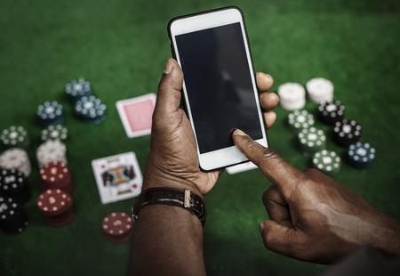 ギャンブルはカジノを賭けたリスクのチャンス 写真素材