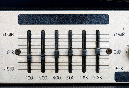 골동품 빈티지 스테레오 시스템 매크로의 근접 촬영 스톡 콘텐츠 - 85321908