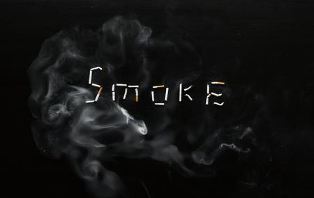 Cigarette smoke concept 版權商用圖片