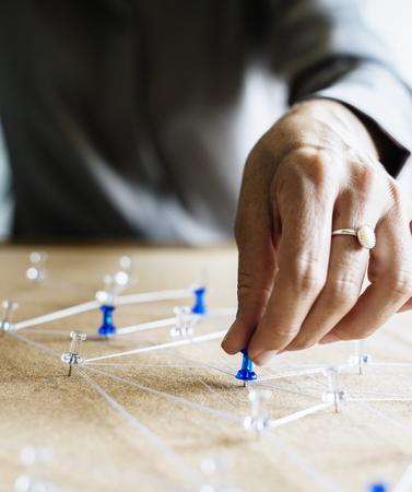 接続シミュレートの手選択ピン
