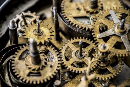 Closeup of gears and cogs clockwork