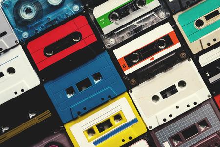 カセット テープ ビンテージ スタイル コレクション 写真素材