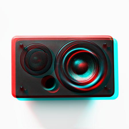 Basso audio eletronico del woofer dell'altoparlante Archivio Fotografico - 85344562