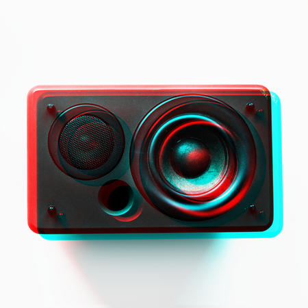 Speaker woofer musical eletronic audio bass Stock fotó