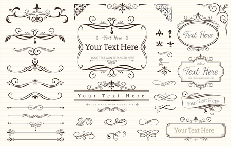 Collection set of label ornament vector illustration Иллюстрация