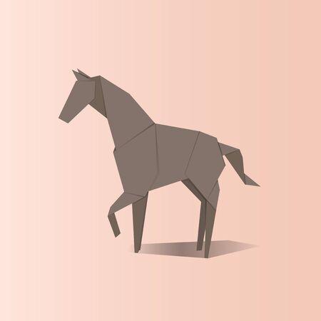 Animal origami vector illustration. Illustration