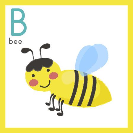 Ilustración alfabeto del estilo de aprendizaje para los niños - alfabeto b Foto de archivo - 86104101