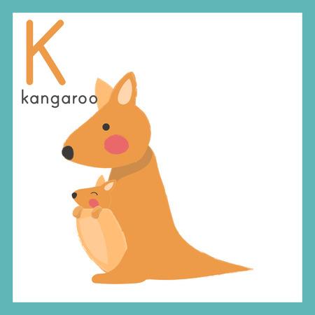 Illustration style Alphabet learning for children - Alphabet K