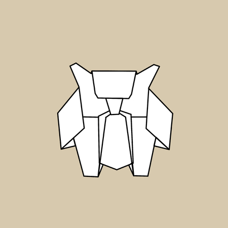 Animal origami vector illustration. Illustration
