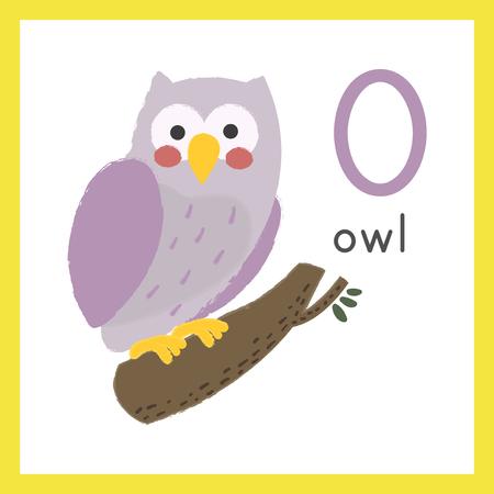 Illustration style Alphabet learning for children - Alphabet O