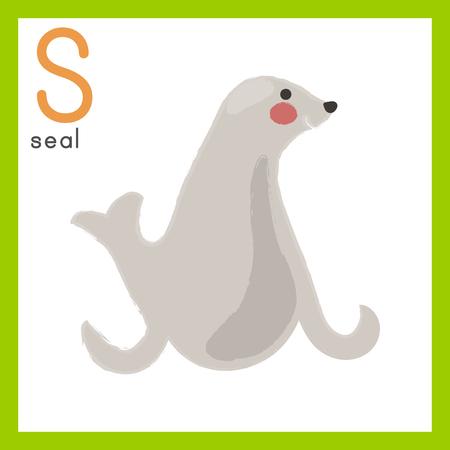 Illustration style Alphabet learning for children - Alphabet S