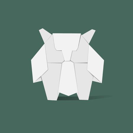 Tier Origami Vektor Standard-Bild - 85322503