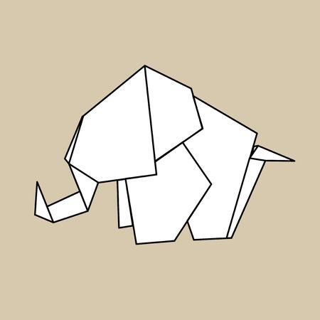 動物折り紙ベクター  イラスト・ベクター素材