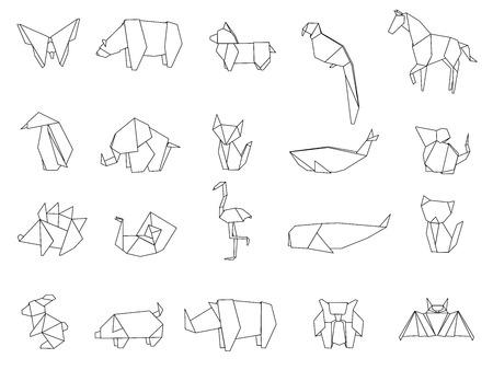 Animal origami vector