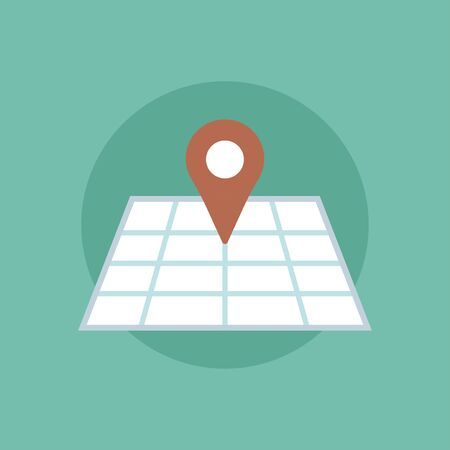 Vector of pinned map icon Stock Vector - 85344197