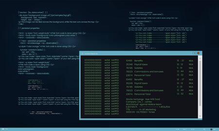 웹 디자인 및 프로그래밍 인터페이스 벡터