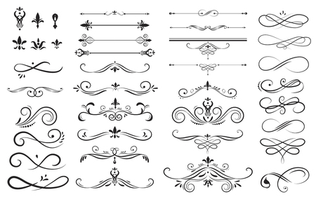 collection ensemble de l & # 39 ; étiquette ornement illustration vectorielle Vecteurs
