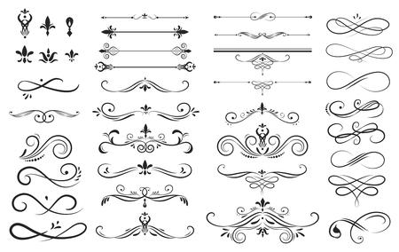 Raccolta di raccolta di etichetta ornamento illustrazione vettoriale Vettoriali