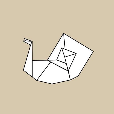 Animal origami vector Banco de Imagens - 85344235