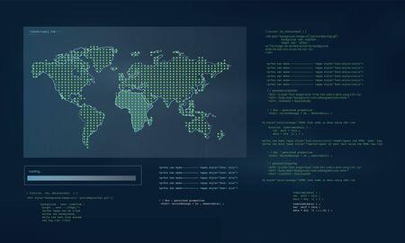 Diseño web y interfaz de programación vectorial Foto de archivo - 85344238