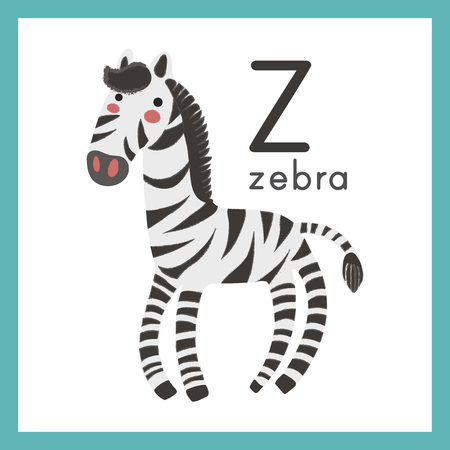 Illustratiestijl Alfabet leren voor kinderen - Alfabet Z