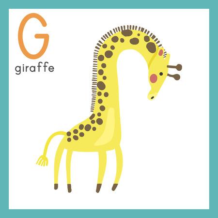 Estilo de ilustración Alfabetización para niños - Alphabet G. Foto de archivo - 86104139