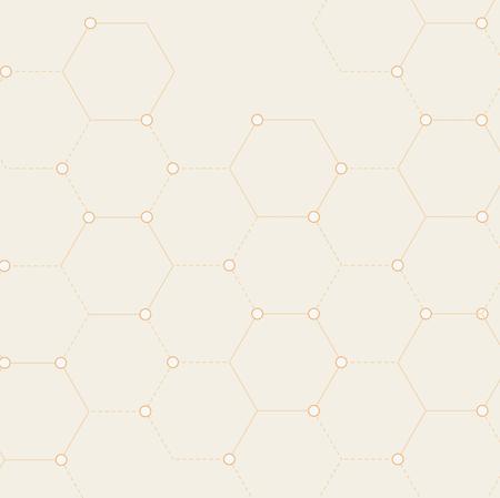 Vector of connected dots pattern Ilustração