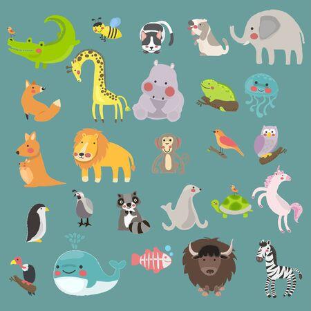 Illustration style of wildlife animal. 向量圖像