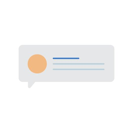 メッセージ音声バブル アイコンのベクトル  イラスト・ベクター素材