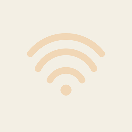A Vector of wireless  icon on pink background.