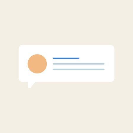 A Vector of message speech bubble icon. Çizim