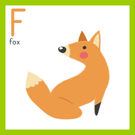 Illustration style Alphabet learning for children - Alphabet F.