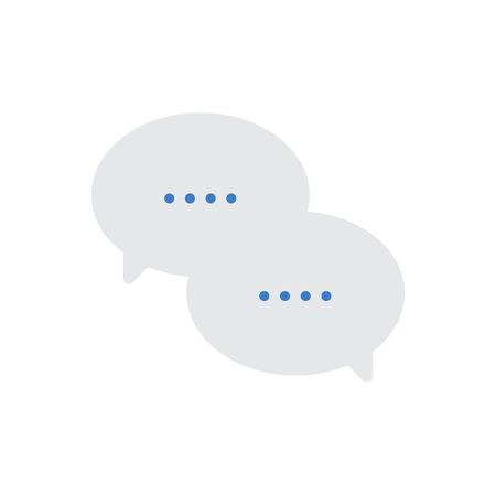Vector of message speech bubble icon