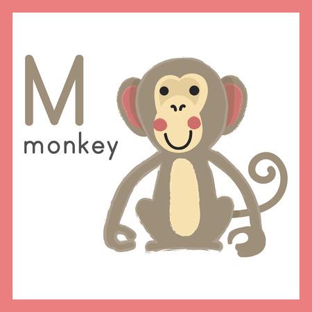 Illustration style Alphabet learning for children - Alphabet M Stok Fotoğraf - 86104151