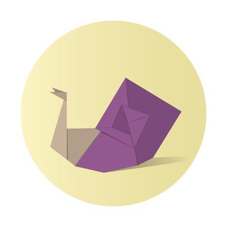 Animal origami vector illustration. Ilustracja