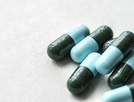 Closeup of medicine capsule pharmaceutical