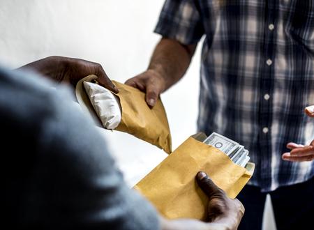 Bribery exchange concept