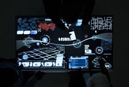 それをインフォ グラフィックでサイバー スペース テーブル 写真素材