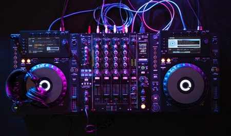 Mixer euipment entertainment DJ station
