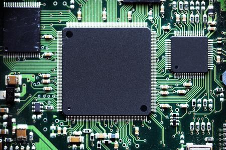 エレクトロニクス回路基板のクローズアップ
