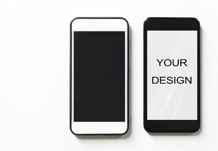 Smartphone device isolated on background