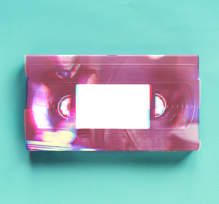 Vintage Retro alte Technologie Videoband Standard-Bild - 85968873