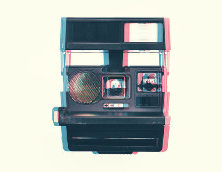 Vintage retro camera isolated on background