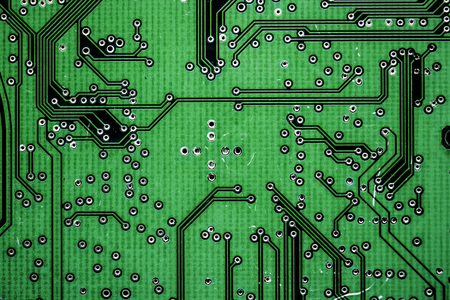 Closeup of electronics circuit board Stok Fotoğraf