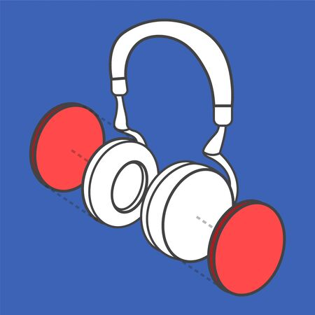 Illustrative headphone digital creative graphic Illustration