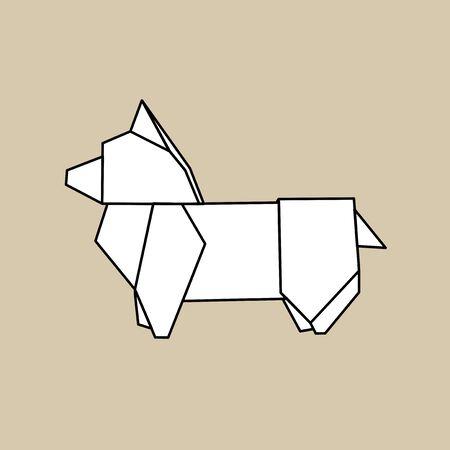 Origami animale vettore Archivio Fotografico - 85968956