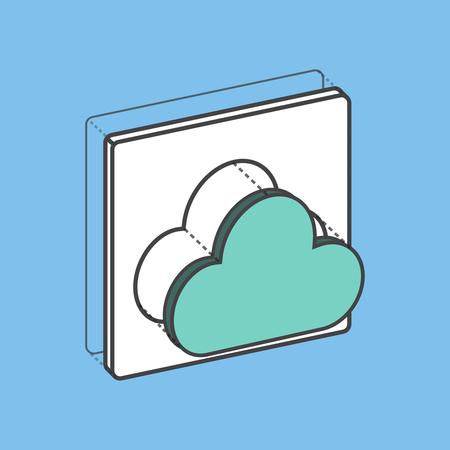 Stockage numérique de stockage de données informatique de stockage Banque d'images - 85862716