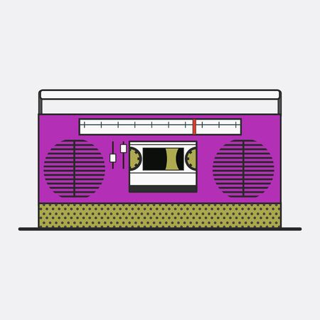 Old school device vector Ilustrace
