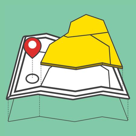 Illustratie van de kaart Stock Illustratie