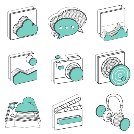Illustration set of recreation icons Imagens - 85968975
